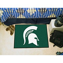 Michigan State University Rug - Spartan Logo Rug 19'' x 30''