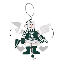 Michigan State University Ornament - Spartans Cheering Snowman 5''