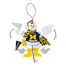University of Michigan Ornament - Cheering Snowman