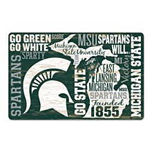 "Michigan State University Sign - WORDAGE Wood Sign 11"" x 17"" 1/4"""