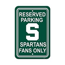 Michigan State University Sign - Plastic Parking Sign 12''x18''