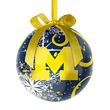 University of Michigan Decoupage Ball Ornament
