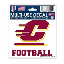 Central Michigan University Decal Multi-Use Football  3' x 4''