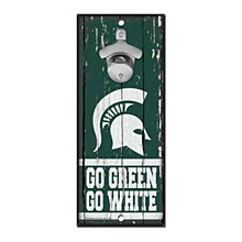Michigan State University Sign Bottle Opener 3/8'' Think x 5'' x 11''