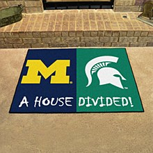 House Divided University of Michigan /Mich State Rug