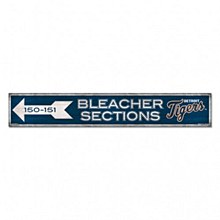 "Detroit Tigers Sign - Wood Bleacher Sections Sign 6"" x 36"" 3/8"""