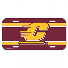 Central Michigan University Decal License Plate 6'' x 12''