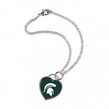 Michigan State University Heart Shaped Bracelet