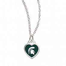 Michigan State University Heart Shaped Necklace
