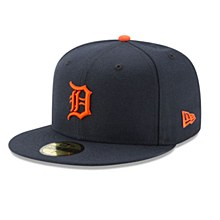 Men's Detroit Tigers New Era Navy Authentic Collection Road On-Field 59FIFTY Fitted Hat