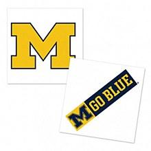University of Michigan Tattoo 4 Pack
