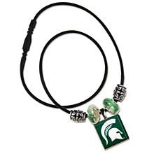 Michigan State University Lifetile Necklace w/Beads