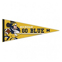 University of Michigan Pennant Go Blue Mickey