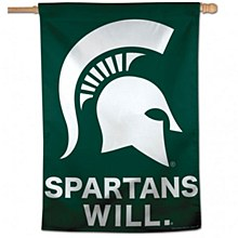 """Michigan State University Banner - Spartans Will Vertical Flag 28"""" x 40"""""""