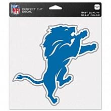 """Detroit Lions Decal - Perfect Cut Color 8"""" x 8"""""""