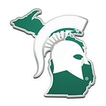 Michigan State University Emblem - Acrylic State Shape Auto Emblem