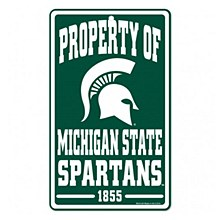 Michigan State University Sign - Property of Michigan State Spartans 1855