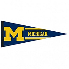 University of Michigan Pennant Premium Classic 12'' x 30''