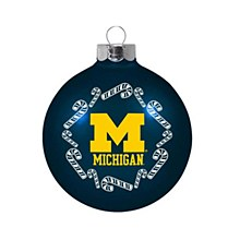 University of Michigan Ornament - Candy Cane Traditional