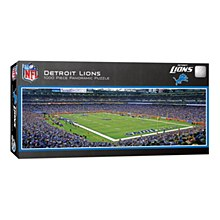 Detroit Lions Puzzle - Ford Field Panoramic Jigsaw 1000pc 13'' x 39''