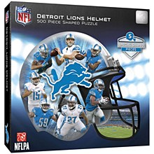 Detroit Lions Puzzle - Helmet Shaped Jigsaw 500pc Puzzle