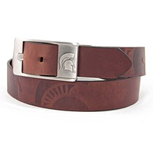 University of Michigan Belt -  Brandish Leather Belt - Brown