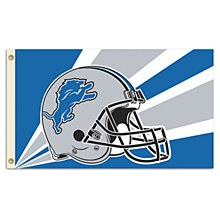 Detroit Lions Flag with Grommetts - Helmet with Logo
