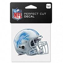 Detroit Lions Decal - Helment Perfect Cut 4'' x 4''