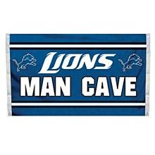 Detroit Lions Man Cave Flag 3' x 5'