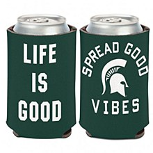 Michigan State University Coozie Life is Good Can Cooler