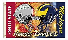 Michigan - Ohio St. 3 Ft. X 5 Ft. Flag W/Grommets - Helmet House Divided