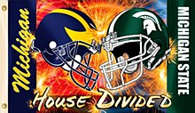Michigan /MSU House Divided 3'x5'
