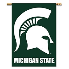 Michigan State University Banner - Spartan 2-Sided with Pole Sleeve 28'' x 40''