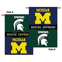 "Michigan - Michigan St. 2-Sided 28"" X 40"" Banner W/ Pole Sleeve"