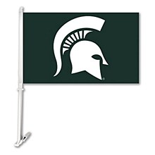 Michigan State University Car Flag