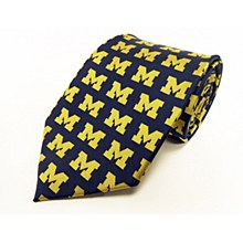 University of Michigan Tie - Repeating Logo Tie