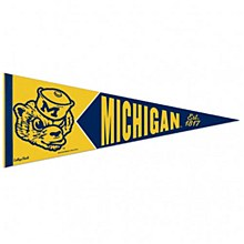 University of Michigan Pennant College Vault Premium 12'' x 30''