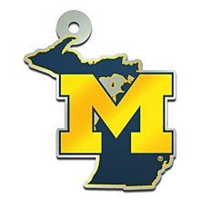 University of Michigan Keychain Acrylic State Shape