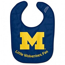 University of Michigan Baby Bib Little Wolverines fan