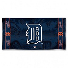 "Detroit Tigers Towel Fiber Beach 9lb 30"" x 60"""