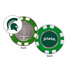 Michigan State University Golf Poker Chip Marker 1 1/2'' Diameter x 1/8'' Thick