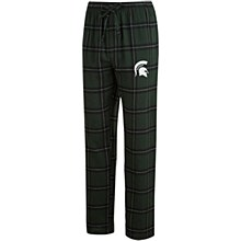 Men's Concepts Sport Green/Black Michigan State Spartans Homestretch Flannel Pants