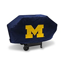 University of Michigan Deluxe Grill Cover -(Navy Background)