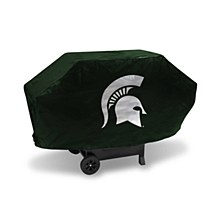 Michigan State University BBQ Deluxe Grill Cover -(Green Background)