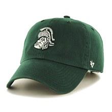 Michigan State University Hat - Clean up Gruff Sparty Logo Dark Green