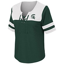 MSU Naples Lace-up Tee Green M