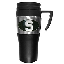 Michigan State University Mug - Steel Travel Mug with Handle