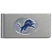 Detroit Lions Money Clip Brushed Metal