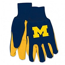 University of Michigan Gloves - Adult Two Tone Gloves
