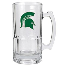 Michigan State Spartans 1 Liter Macho Mug w/ Metal Emblem